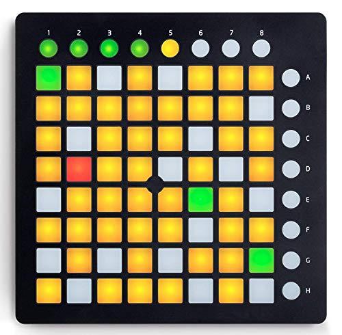 Controlador de DJ portátil 64 Clave Controlador Midi USB en Vivo de...