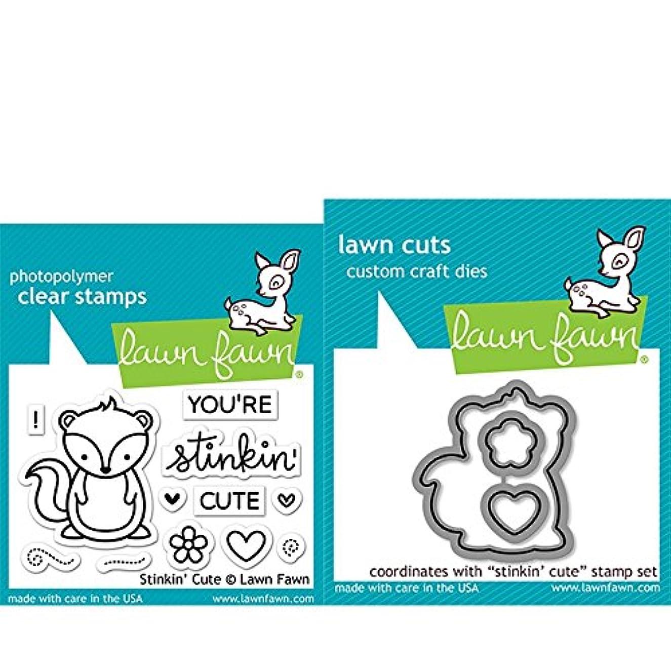 Lawn Fawn Clear Stamp & Die Set - Stinkin' Cute LF1022 & LF1023