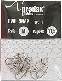 Predax Ovalado Egg Snap–10snapserver para anzuelos Depredadores, Einhänger para Cebo Artificial como Wobbler, Jerkbaits, Peces de Goma, Intermitente, Spinner