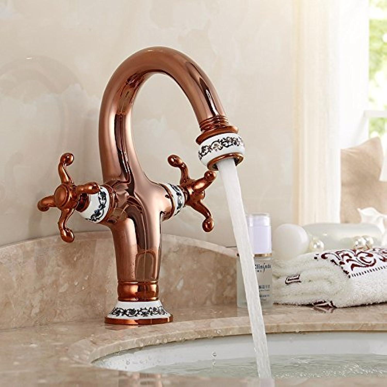 Bijjaladeva Wasserhahn Bad Wasserfall Mischbatterie Waschbecken WaschtischDie Gold-und Kaltwasserbecken Einloch mischbatterie Tsing HUA Keramik Waschbecken Kupfer Wasserhahn Ein