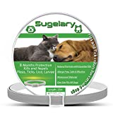 Sugelary Collar Antiparasitario para Perros Gatos, Protección de 8 Meses Ajustable Impermeable Collar Antiparasitario para Perros Gatos contra Pulgas Mejorado con Aceites Esenciales Naturales