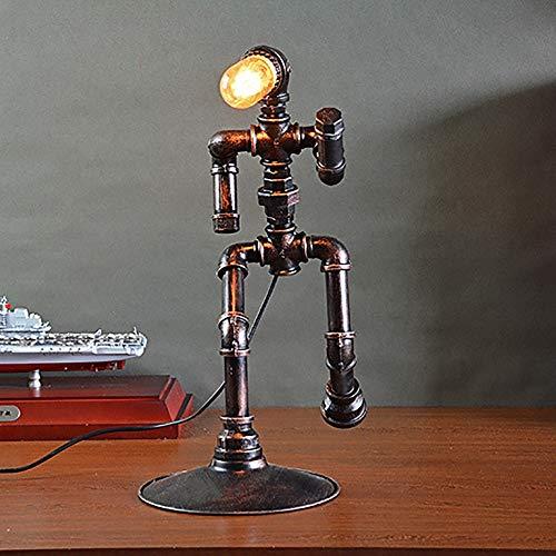 Lámpara de mesa Raxinbang Intervalo de control de la lámpara de recorte de la lámpara de recorte de la luz de la tubería de hierro industrial de América del Norte E27 lámpara de mesa de actividad comp