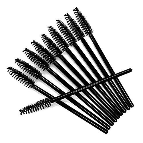 50 PCS Brosses à Cils Jetables Applicateur Jetable de Baguettes de Mascara,Kit de Pinceau de Maquillage pour Curling et Levage de cils