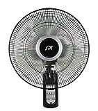 SPT SF-16W81A: 16″ Wall Mount Fan with Remote Control, black