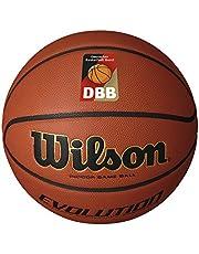 Wilson Piłka do koszykówki, na zawody, parkiet sportowy, rozmiar 6, EVOLUTION, brązowa, WTB0586XBDBB