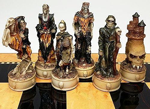orden en línea Skeleton Slayer Slayer Slayer Fantasy Gothic Skull Chess Men Set - NO BOARD by HPL  punto de venta en línea