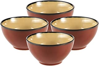 Gourmet Basics Belmont Red Cereal Bowl (24-Ounce, Set of 4)