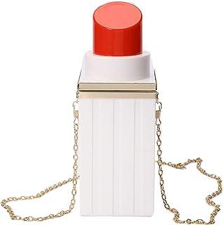 Damen Rechteckige Acryl Abendtasche Lippenstiftform Geldbörsen Clutch Party Bankett Handtasche