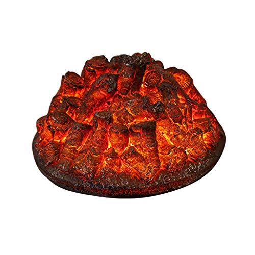 SHUAI- American Retro Chimenea Eléctrica Core Imitación Del Carbón De Leña Chimenea Decoración Con Estufa Efecto De La Lámpara Independiente Chimenea 39.5x20cm