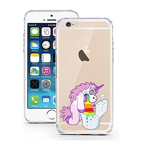 'licaso iPhone 66S 4,7TPU unicorno cellulare Sketch Unicorn Case trasparente chiara per cellulare Disney cellulare iPhone6Custodia Cover iPhone 5 5S SE Einhorn Regenbogen 2
