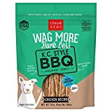 Cloud Star Wag More Bark Less Jerky Dog Treats, Made in USA Only Kansas City Style BBQ, Grilled Chicken 10 oz.