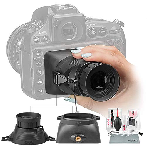 Hoodman H32MB HoodLoupe Outdoor Viewfinder for 3.2' LCD Screens with Xpix Cleaning Kit