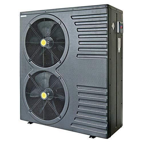 well2wellness Pool Wärmepumpe Mida.Black 26 On/Off - Poolheizung mit Einer Heizkapazität bis 24,6 kW Plus Winterabdeckung