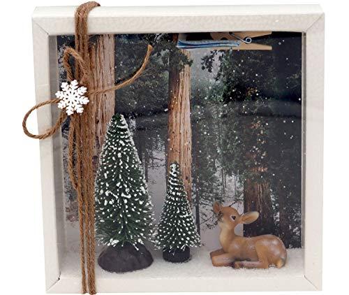 ZauberDeko Geldgeschenk Verpackung Weihnachten Xmas REH Wald Tanne Geschenk Gutschein