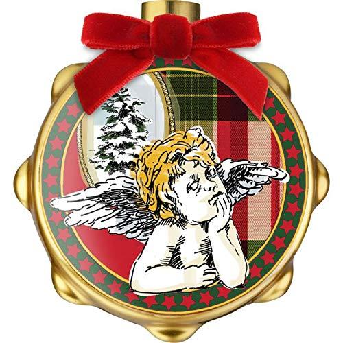 Baci Milano Xmas Tartan Tamburello in Porcellana XDRUM.TAR01 Natale Decorazione Albero Sfera