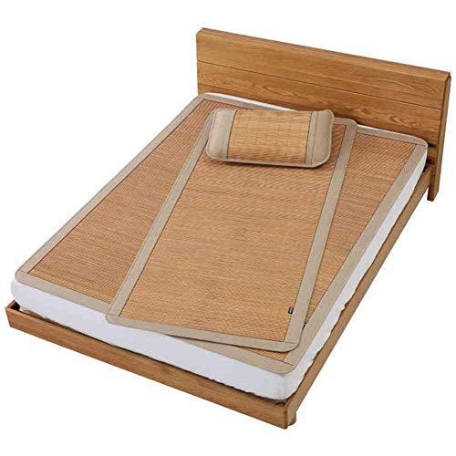 ZXL Bamboo Summer Sleeping Cooling matras, eenkleurig, airconditioning, opvouwbaar, 5 maten 3 stijl (kleur: C, maat: 100 x 195 cm)