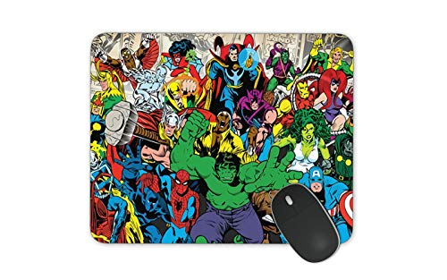 JNKPOAI Avengers Anti-Slip Mouse Pad Marvel Games Mouse Pad Personalized Design of Notebook Mouse Pad Star Spider-Man Printed Mouse Pad (Marvel#3)