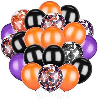 50 قطعة هالوين بالونات برتقالي أسود أرجواني بالونات بالونات اللاتكس للحزب لوازم الديكور ، 12 بوصة