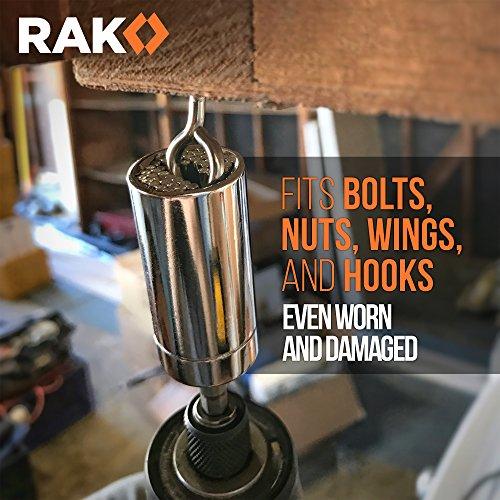 RAK Universal Socket Grip (7-19mm) Multi-Function Ratchet Wrench Power Drill Adapter 2Pc Set - Tool for Men, DIY Handyman, Father/Dad, Husband, Boyfriend, Him, Women