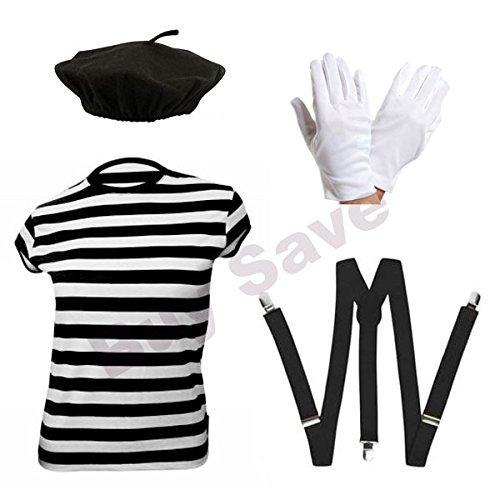 - Mime Artist Kostüm Fancy Dress