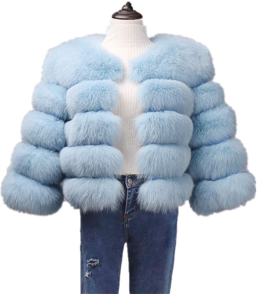 Lisa Colly In stock Women Winter Luxury Faux Las Vegas Mall Fur Fox Lo Coat Outwear Slim