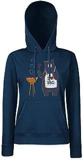 Bear Grills Women Hoodie Hooded Sweatshirt Pullover