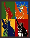 Lady Liberty: Pop Art Notebook In Warhol Style Bright Vibrant Colors Pro-Immigration Anti-Racism Journal For Students Elementary Middle School High ... Workbook For Lovers Of Democracy & Freedom