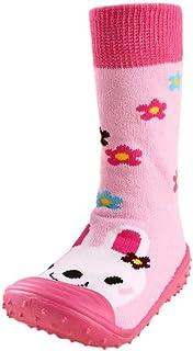 BaZhaHei Zapatillas de Niños Niña Bebé Recién Nacido bebé Dibujos Animados Pisos Antideslizante Suela de Goma Zapatos Suaves Zapatillas Piso de algodón Calcetines Goma Zapatos de niño