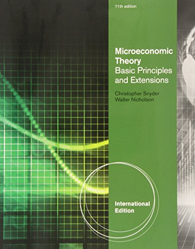 Microeconomic Theory: Basic Principles and Extensions.