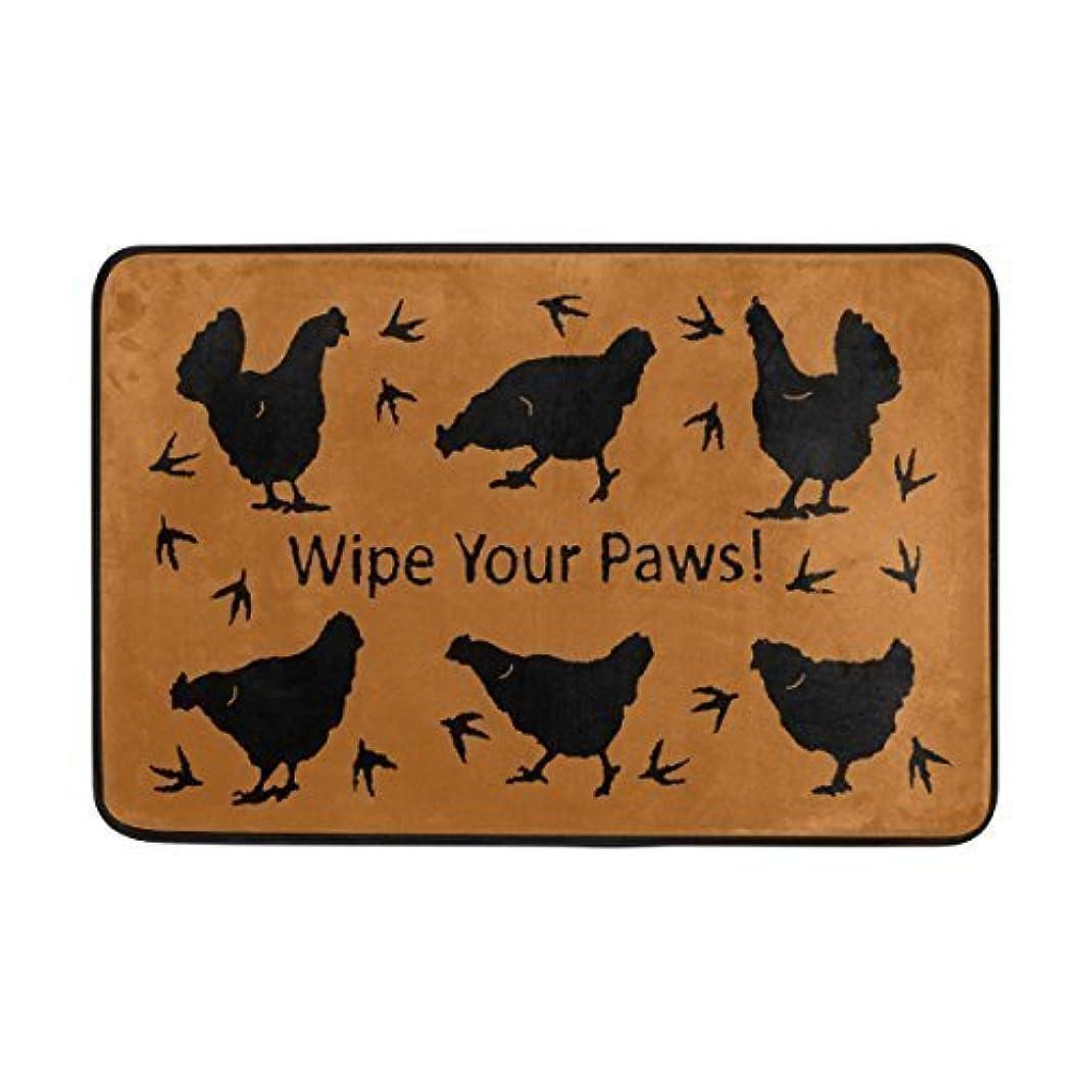 サービス早める遠えEntrance Doormat Wipe You Paws Chickens Machine Washable Rug Non Slip Mats Bathroom Kitchen Decor Area Rug 23.6(L) X15.7(W) Inch inch