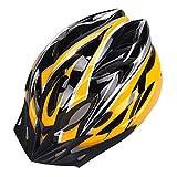 YOUCAI Unisex Adultos Casco Bici de Ciclo Equipo para Bicicleta de Carretera Amarillo Negro