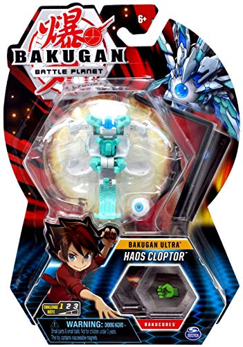 Bakugan Ultra, Haos Cloptor, 3-inch Tall Collectible Transforming Creature, Wave 7, for Ages 6 and Up,