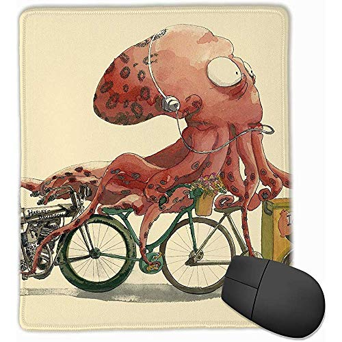 Office Mouse Pad Octopus Verkopen Ijs Illustratie Rubber Mousepad 30 * 25 * 0,3 cm Gaming Muis Mat met Zwarte Lock Edge