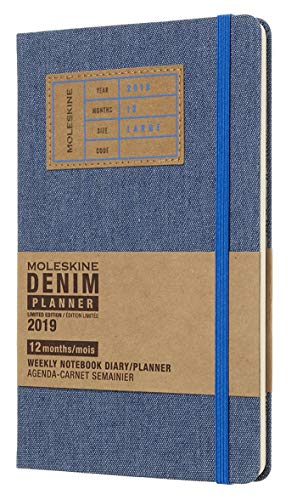 Moleskine Limited Edition Denim Collection 12 Month 2019 Weekly...