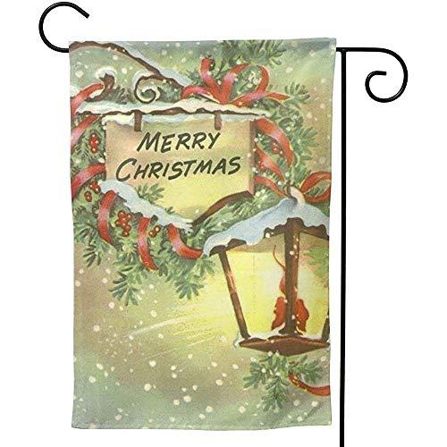 Not applicable Drapeau de Jardin de Signe de décoration de Joyeux Noël Prime Tissu Drapeau extérieur de Jardin de Maison décorative