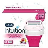 Schick Intuition Island Berry Refil de lâmina de barbear feminino, 6 unidades