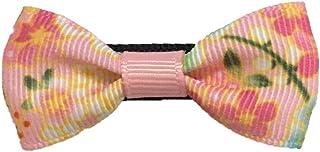 ベビー 赤ちゃん ヘアクリップ 日本製 ヘアピン ミニ 小さめ 七五三 髪飾り 着物 浴衣 Baby Deer Clips 和リボン (ももいろ)