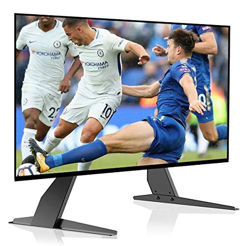 Suptek Universele Tafel Bureau Pedestal TV Stand Tafelblad Scherm Monitor Riser voor de meeste 22-65 Inch LCD Flat Screen TV VESA Tot 800 x 400mm Zwart ML1760