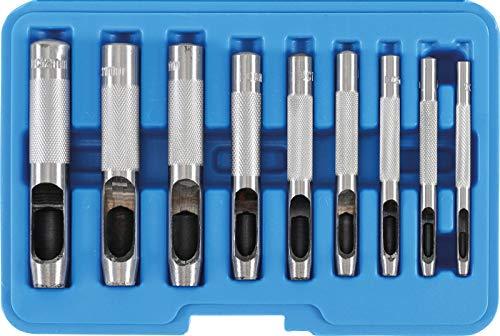 BGS Locheisensatz, 565, 9-tlg. in Kunststoffkassette, 3-12 mm