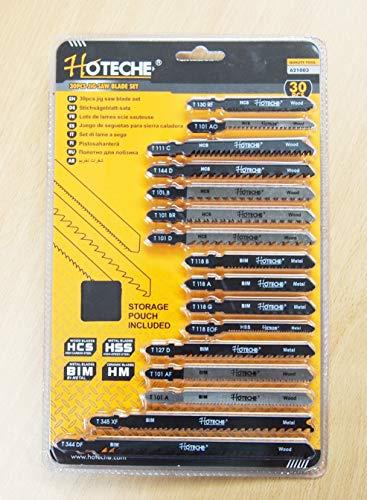 30 PC T-shank Jig Saw Blade set Wood/Metal Cutting General Purpose