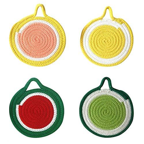 DONGKER Posavasos Circulares Tejidos Manteles de Mesa Alfombrillas Aislantes Lavables Antideslizantes para El Hogar Cocina Mesa de Comedor Fiesta al Aire Libre
