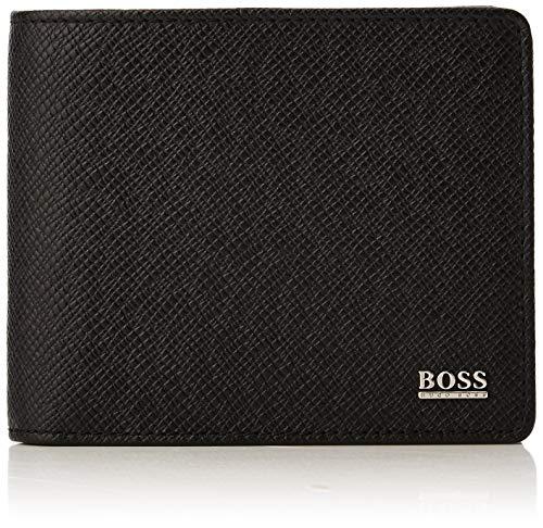 BOSS Signature_trifold - Portafogli Uomo, Nero (Schwarz), 2.5x9.5x12 cm (B x H T)