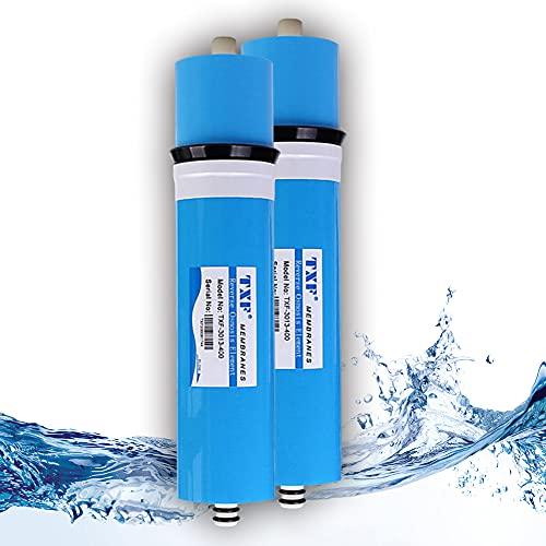 Membrana Seca TFC 3013-400G RO 13.11'X2.68 Filtro de Cartucho de reemplazo de Membrana de ósmosis inversa para Sistema de purificación de Agua de 5 etapas RO Debajo del Fregadero