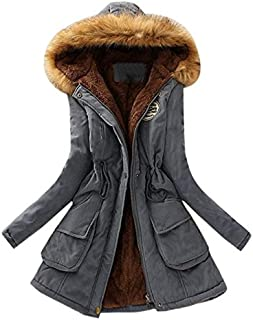M/&S/&W Womens Slim Warm Parka Faux Fur Trim Hood Down Jackets Coats