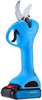 cilyberya Tijeras de podar sin cable de 30 mm Podadora eléctrica portátil Mano que sostiene la rama de un árbol Podadoras de luz Cortadora de jardín para el hogar Incluye 2 baterías de respaldo