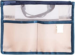 Vercord Translucent Tote Organizer Handbag Purse Insert Organization Inside Liner Mesh Handle