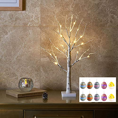 EAMBRITE Árbol de Luz LED 60cm Abedul 24LT Luz Blanca Cálida con...