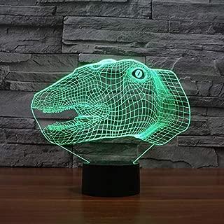 beiping Dinosaur Head 3D with Lights USB Night Light Creative Electronics USB Led 3D Lights
