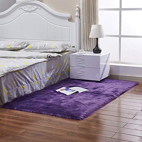 FHKL Kunstmatige wol, fluweel, woonkamer, salontafel, sofatapijt, tapijt, simulatie, wol, kussen, raam beuken, kussen, woonkamer, slaapkamer, lange deken