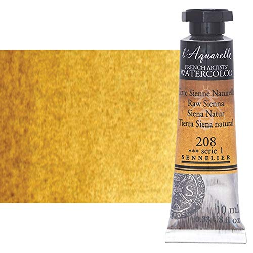 Sennelier l'Aquarelle Watercolor Tubes 10ml - Raw Sienna 10ml Tube